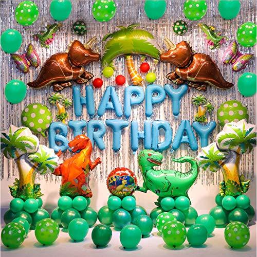 Tyro Dinosaur Globos de lámina combinada de dragón de helio Globos Jurasico Mundial Animal globo de dinosaurio Suministros de fiesta de cumpleaños para niños regalo de cumpleaños