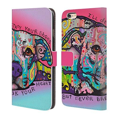 Ufficiale Dean Russo Non ti spezzare mai il cuore Cani 2 Cover a portafoglio in pelle per Apple iPhone 6 Plus / 6s Plus