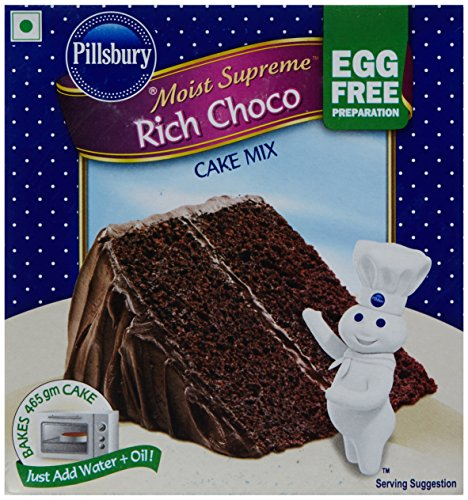Pillsbury Moist Supreme Egg Free Cake Mix, Rich Choco, 270g