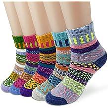 Dokpav 5 pares Calcetines mujeres Calcetines de invierno caliente Suave Cómodo Super Gruesa Calcetines Adulto mujer