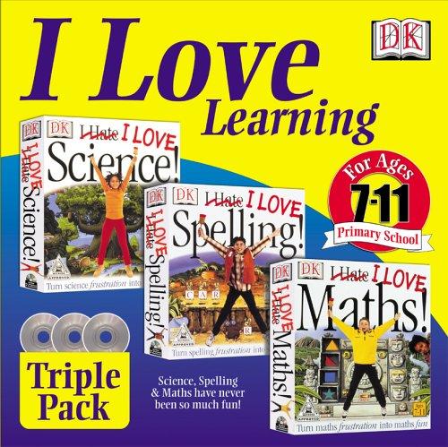 I Love Learning Pack (I Love Maths, I love Spelling, I Love Science) Test