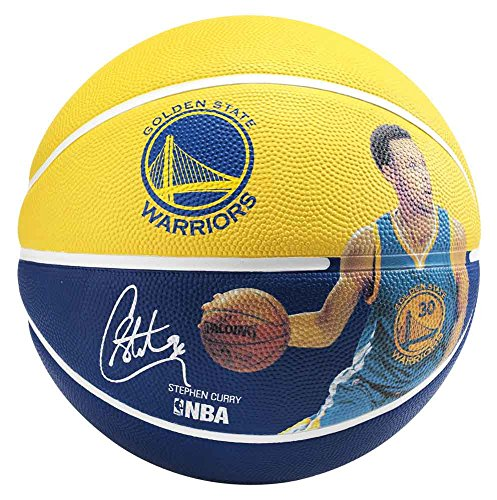 Spalding Nba Player Stephen Curry Sz.7 (83-343Z) Balón de Baloncesto, Amarillo / Azul, 7
