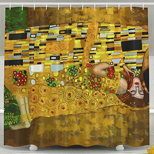 Pengyong Gustav Klimt baci Mold Resistant tenda per doccia in tessuto per il bagno, idrorepellente, standard–152,4x 182,9cm