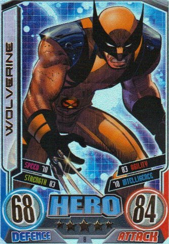 Marvel Hero Attax Series 2 The Avengers Rainbow Foil Card 8 Wolverine [Toy]