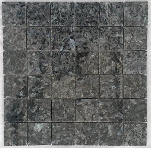 Granit Mosaik Matte Blue Pearl 30x30 cm 4,8x4,8 poliert Naturstein Fliesen M045 -