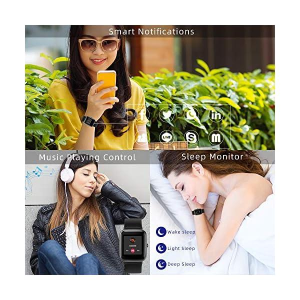 LIFEBEE Smartwatch, Reloj Inteligente Impermeable IP68 para Hombre Mujer niños, Pulsera de Actividad Inteligente con… 8