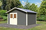 Unbekannt Karibu Gartenhaus OLDEBORG 1 terragrau Gerätehaus 364x304cm 28mm