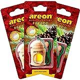 AREON Auto-Lufterfrischer Parfüm Fresco 4ml–Kiefer Duft–Flasche hängend Diffusor mit natürlichem Holz C