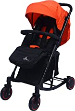R for Rabbit Rock N Roll - The Rocking Baby Stroller and Pram for Baby/Kids(Red Black)
