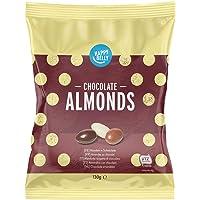 Marchio Amazon - Happy Belly Mandorle ricoperte di cioccolato 130g x 6