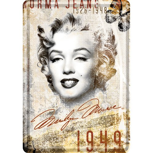 Nostalgic-Art 16210 Celebrities - Marilyn - Portrait-Collage, Blechpostkarte 10x14 cm