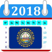 New Hampshire Calendar 2018 Holiday