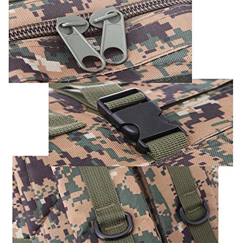 Rucksack Militär Camouflage 3D Reisecamping Wandern Outdoor Rucksack ArmyGreen