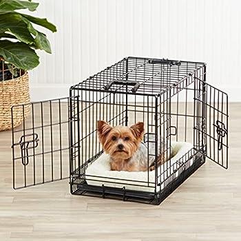 AmazonBasics Double-Door Folding Metal Dog Crate, 22-inches