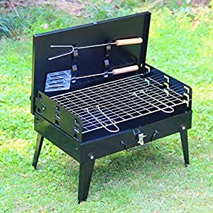 Anvey Charcoal Burn Oven Portable Folding Barbecue Grill Box Barbecue Grill For Outdoor Household BBQ Grills Thickening