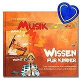 Musikwissen für Kinder von Heidi Debschütz - ideale Nachschlagewerk für musikbegeisterte junge Leute ab 7 Jahren - zum Schmökern, Lernen und Entdecken - mit bunter herzförmiger Notenklammer