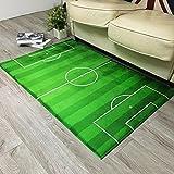 Nordic Designer Antirutsch-Teppich Fußball Feld Muster Dicker Kinder spielen Matten Umweltfreundliche rutschfeste Schlafzimmer Wohnzimmer Study Room Teppich Türmatten in Wohnzimmer / Schlafzimmer von DT-Teppichläufer ( Farbe : #1 , größe : 80*120cm )