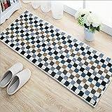 ditan stuoie cucina di casa tappeto musivo tappetini antiscivolo lunghi, blue, 45 * 120cm