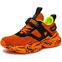 Sportive Scarpe Unisex Bambini da Corsa Respirabile Mesh Sneakers Casual con Velcro