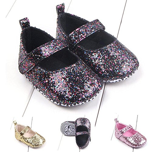 Omiky® Mode Kleinkind Mädchen Soft Sohle Krippe Schuhe Sequins Sneaker Baby Schuhe Rosa