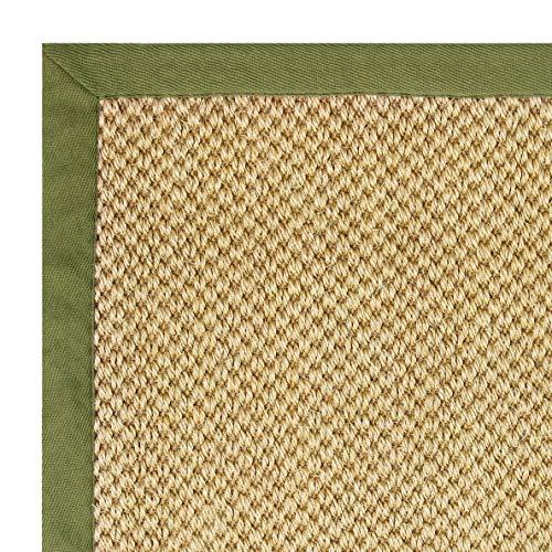 *Floordirekt 100% Reiner Sisal-Teppich mit Bordüre | Wohnzimmerteppich | Naturteppich | Tiger-Eye | in 3 Farben und 2 Größen (160 x 230 cm, Natur/Taupe)*
