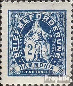 Hambourg (Privé) D1B avec charnière 1886 hammonia (Timbres pour les collectionneurs)