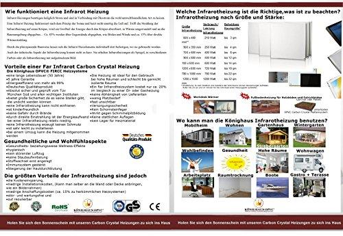 Könighaus Bildheizung Infrarotheizung mit hochauflösendem Motiv 5 Jahre Garantie Bild 3*