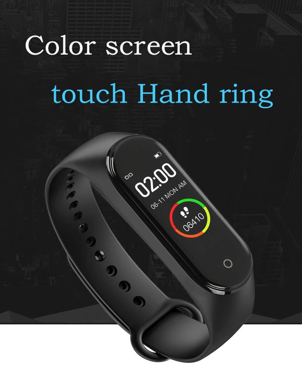 BATHRINS Pulsera Inteligente, [actualización] M4 Fitness Tracker, Impermeable Bluetooth Actividad Tracker Monitor de Ritmo cardíaco Monitor de sueño Podómetro Paso Reloj para Hombres y Mujeres 3
