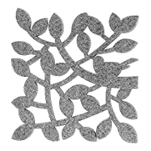 Twigs Coasters - Set of 6 - Home Decorations - Good Drinks Absorbent - Housewarming Gift - Perfect Home Furnishings (Grey)