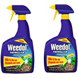 2 x Spray Bottles of Weedol Pathclear Weedkiller, Double Action, Kills to the root & prevents new weeds