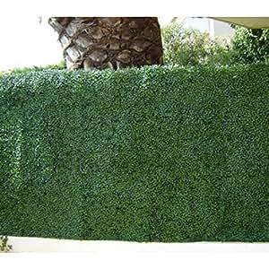 Haie de buis PVC - 1 m2 vert 12 m2
