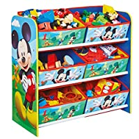 Disney Mickey Mouse Kids Bedroom Storage Unit with 6 Bins by HelloHome