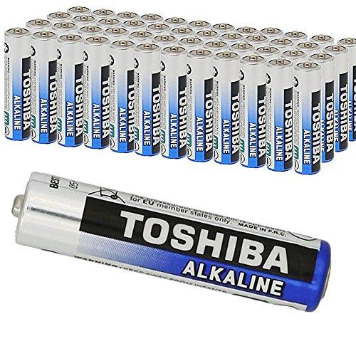 TOSHIBA 40 AAA Micro, LR3 Batterie Alkaline 1,5V Extra Power, 1 x 40er Pack, f�r Computermaus, Spielzeug Uhren Kamera Zahnb�rste usw. vorgeladen