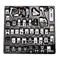 WElinks 42pcs Professional Sewing Machine Presser Feet Set,Multifunction Domestic Presser Foot Space Parts Accessories for Brother, Babylock, Singer, Janome, Kenmore
