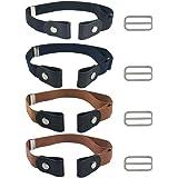 FOCCTS Set di cinture elastiche invisibili 4 pezzi senza fibbia per uomini, donne e persone con bisogni speciali