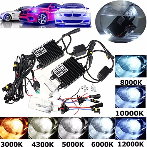 100W HID KIT AC Ballast H1 Xenon Bulbs Lamp 4300K-12000K