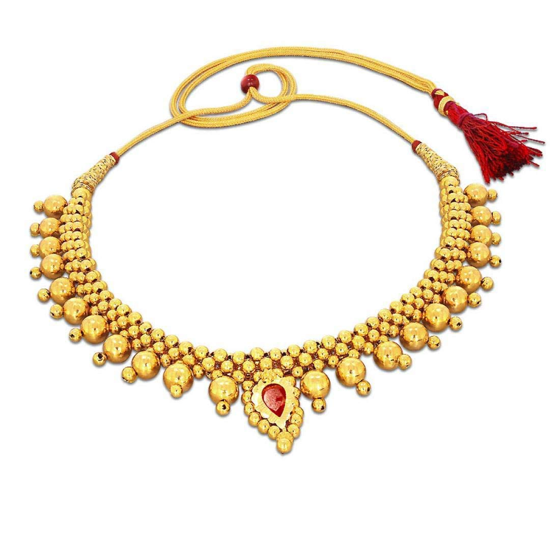 Candere By Kalyan Jewellers 22kt Yellow Gold Choker Necklace For Women Shop2day Online Shopping
