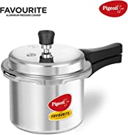 Pigeon By Stovekraft Favourite Induction Base Aluminium Pressure Cooker with Outer Lid, 3 Litres (Silver)