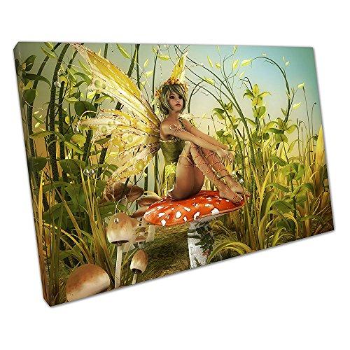 Kunstdruck auf Leinwand Illustration Fantasy genießen die Letzten Sonnenstrahlen Fairy Art - 45 x 30 x Depth 2cm