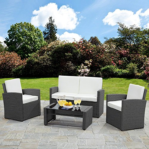 Outdoor Patio Furniture Sale Amazon: Rattan Sofa Garden Furniture Set Patio Conservatory