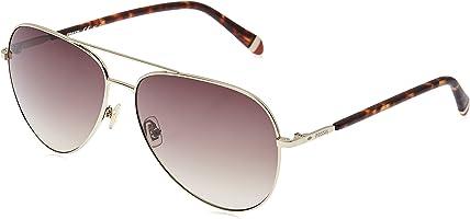 Fossil Aviator Sunglasses for Unisex - Brown Lens