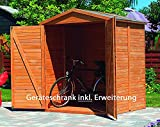 Promadino Geräteschrank RHÖN 174x82x210cm Holzschrank 358/47 imprägniert