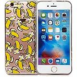 Rétro Masque Yeux Cartoon Coque de protection d'écran pour Apple iPhone, plastique, Banana, iPhone 6/6s
