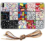 Ewparts Kinder DIY Armband Buchstaben Perlen, Acryl Alphabet Buchstaben Perlen für Schmuck machen,...