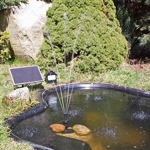 CLGarden Solar Teichpumpe mit Akku - 2