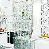 Generisches Scheck Polyester Duschvorhang 300cm x 180cm (W x H) (300*180)