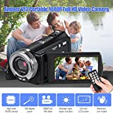 Festnight V12 1080P Full HD 16X Digital Zoom Recording Video Camera Portable Camcorder with 3.0 Inch Rotatable LCD Screen Max. 20 Mega Pixels Support Night Vision Face Detection Face Beautification