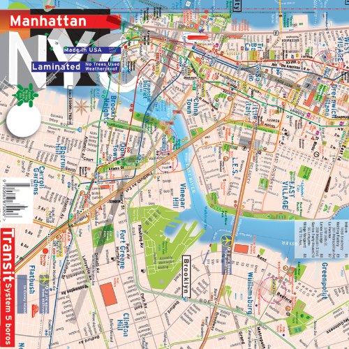 Plan de New York, Manhattan , Brooklyn Downtown, métro système complet [2013] par Alberto Michieli