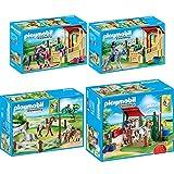 PLAYMOBIL® Country 4er Set 6929 6931 6934 6935 Pferdewaschplatz + Pferdekoppel + Pferdebox