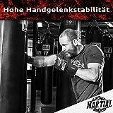 MMA Handschuhe Profi – professionelle Qualität – hochwertige Konstruktion – Boxen, Training, Sandsack, Boxsack, Freefight, Grapling, Kampfsport – Schwarz – Boxhandschuhe - 4